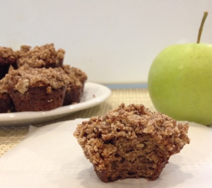 Paleo Caramel Apple Streusel Muffins via There is no Secret to Getting Fit