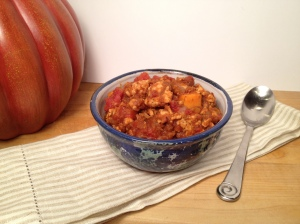 Pumpkin Sweet Potato Chili